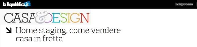 Home Staging  - come vendere casa in fretta (tratto da Repubblica.it)
