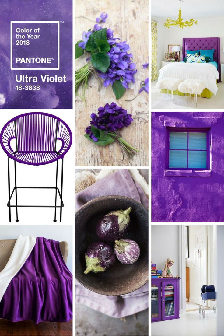 Moodboard Pinterest Pantone Ultra Violet