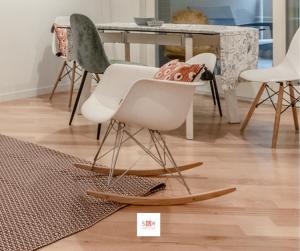 Sedia a dondolo RAR Charles Eames
